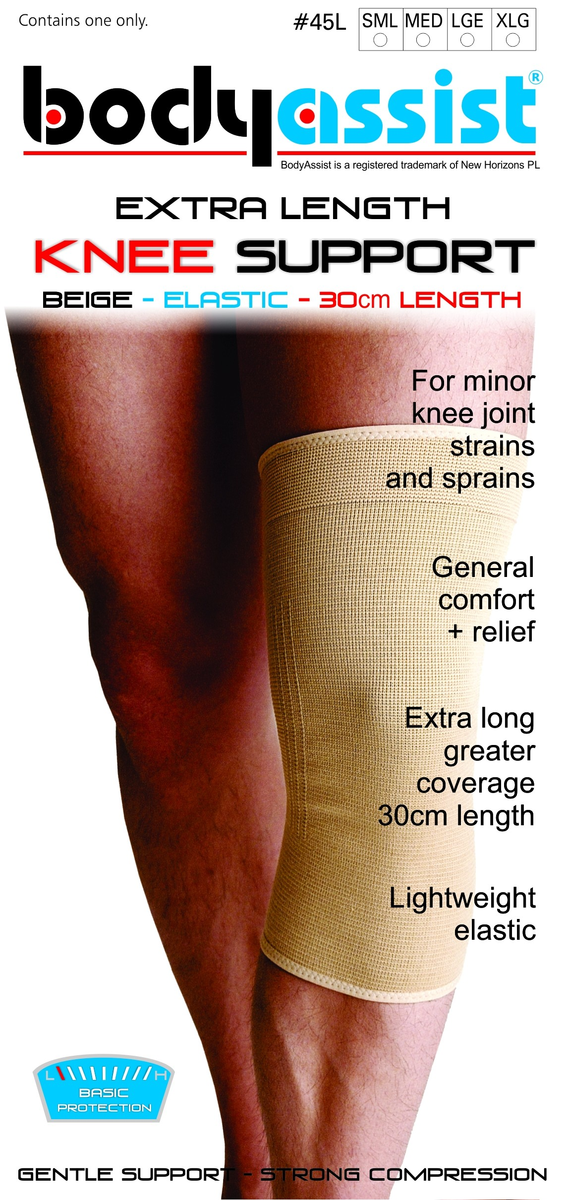 Bodyassist Extra Length Elastic Knee