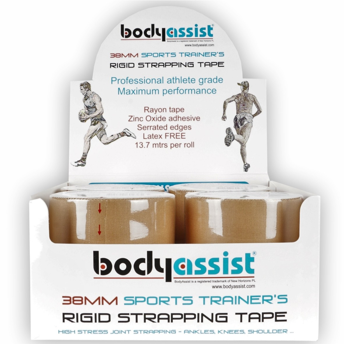 Sports Trainers Premium Strapping Tape (Tray)