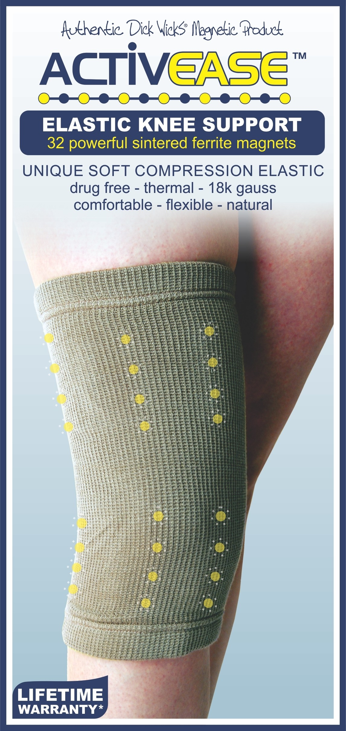 Dick Wicks Low Compression Magnetic Knee Support