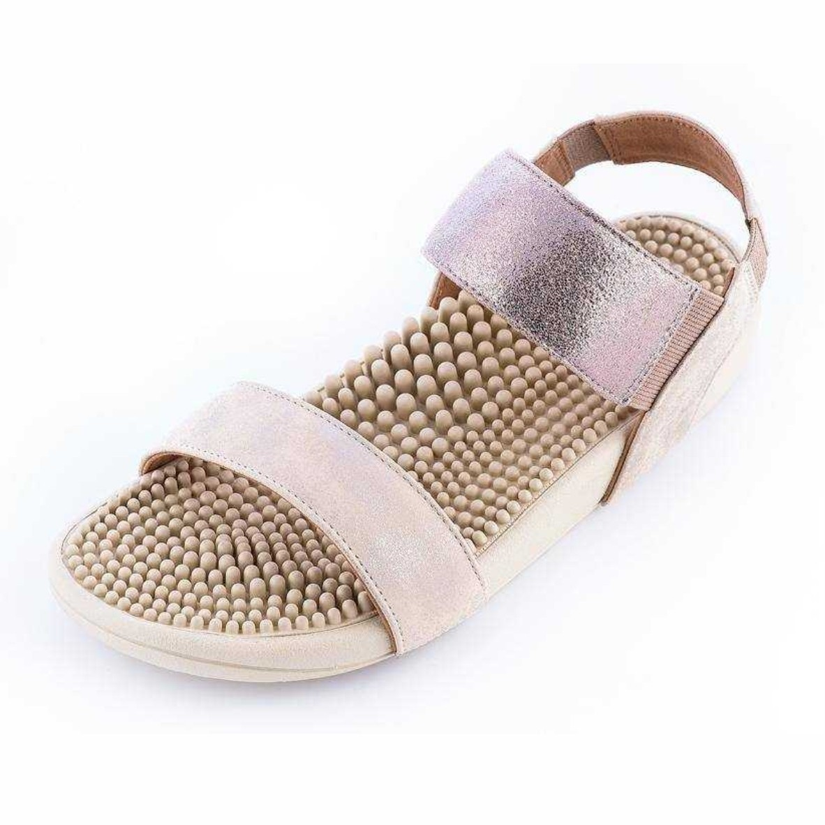 Kenkoh Sakura Massage Health Fashion Health Sandals (Beige)