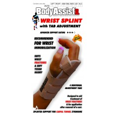 Elastic Wrist Splint with Tab Adjustment
