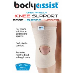 Slip-On Elastic Knee Support Beige Open Patella