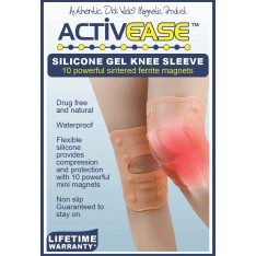Activease Silicone Gel Knee Sleeve with 10 Magnets